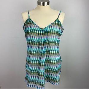 Maurices Large Adj Strap Blue Green Top